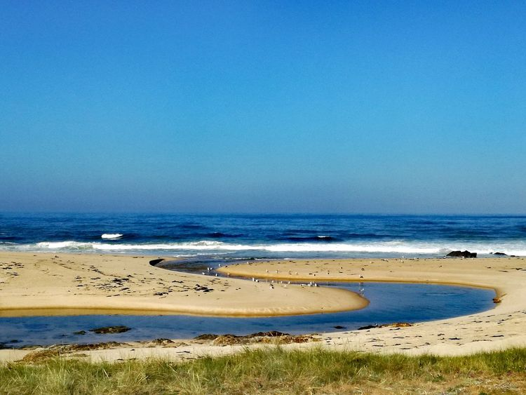Beach Sea Sand Blue Sunny Water Nature Landscape Horizon Over Water Beauty In Nature Tranquil Scene Sky Vacations Scenics Clear Sky Travel Destinations Tranquility No People Outdoors Day Atlantic Coast Caminho Do Mar Sky And Sea Portugallovers Portugal_em_fotos