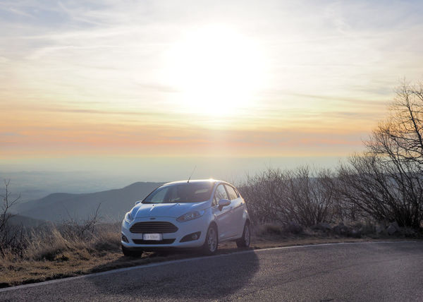 Car Fiesta Ford Fordfiesta Nature No People Road Sky Sun Sunset Transportation