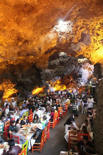 ColorsOfMexico Mexico Crowd People Restaurant Cave Grotto Sightseeing Coolplace Perspectives On Nature Rethink Things