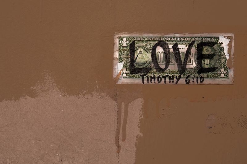 Bible Verses Love Bills Built Structure Dollar Dollar Notes Money No People One Dollar Note Text