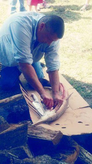 Garfish Chalo Nitka Cleaning Fish