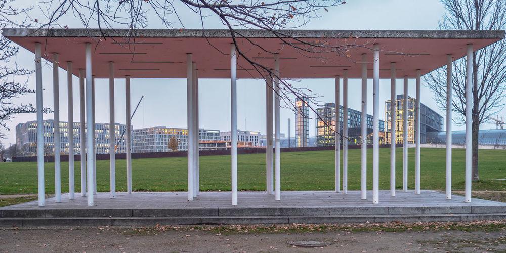 Blue Hour Cityscape Deutschland Hauptbahnhof Trees Architecture City Columns Day Grass Hauptbahnhof Berlin OlympusPEN Outdoors Pavilion Railroad Station Urban Landscape The Week On EyeEm Tourist Attraction  Tourist Destination Urbexexplorer Urbex
