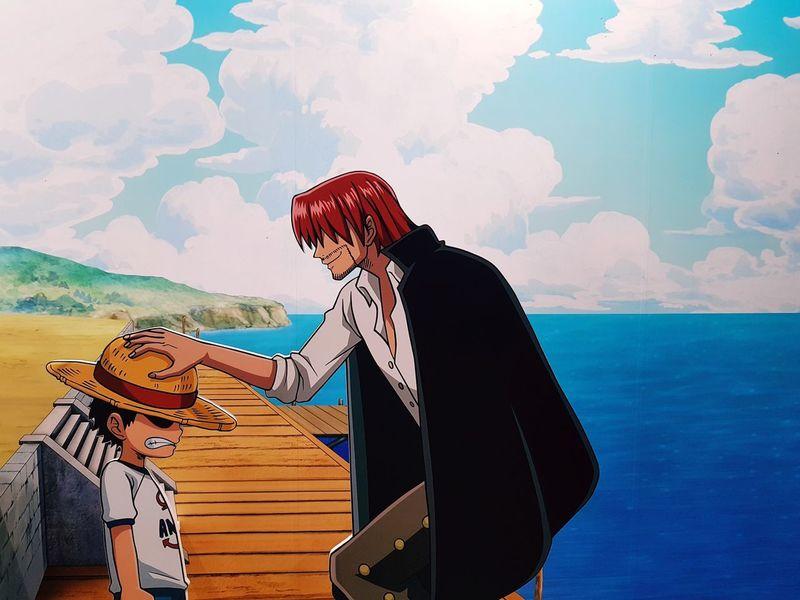One Piece Luffy Shanks