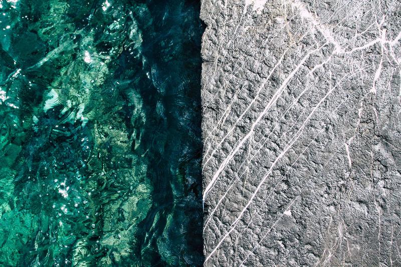 Full frame shot of rock in sea
