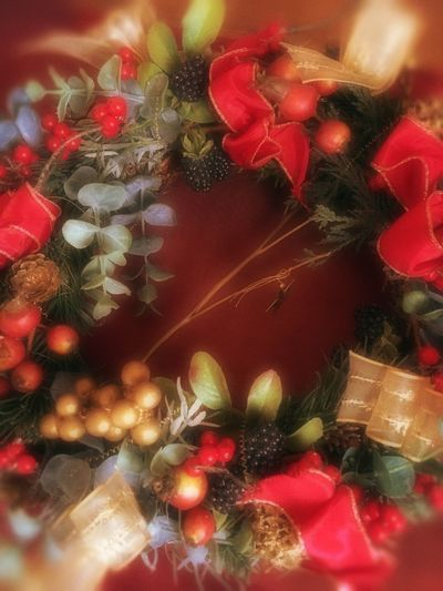 I made a Christmas wreath🎄 Showcase: December Christmastime Christmas Christmas Decorations Christmas Tree Christmas Wreath Wreath Noël Joyeux Noël**Marry Chrismas**Feliz Natal Noel2015 Peace Holidays Joy Handmade By Me From My Point Of View Red Gold Happiness Christmas Around The World