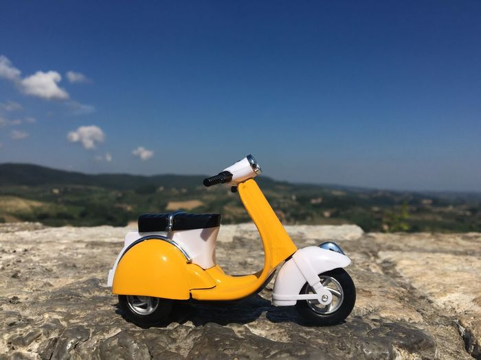 Vespa View From Top Of A Castle Vacation Time