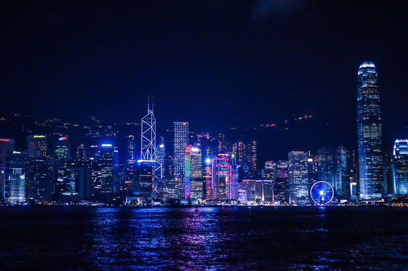 Night view City Architecture Night Building Exterior Skyscraper Illuminated Built Structure Modern Waterfront Cityscape Travel Destinations Water Urban Skyline River Tower No People Sky Outdoors Downtown District Travel Photography HongKong Nautical Vessel Travel EyeEm Gallery EyeEm Best Shots
