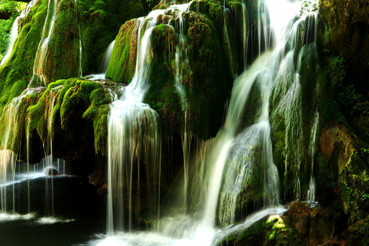 Waterfall Scenics - Nature Long Exposure Water Rock Beauty In Nature Rock - Object Blurred Motion Motion Solid Forest Nature Tree Flowing Flowing Water No People Land Environment Outdoors Rainforest Falling Water Purity Power In Nature