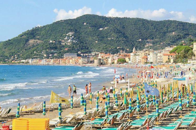 Water Sea Beach Sky Outdoors Landscape Nature Alassio Italy Italia Liguria