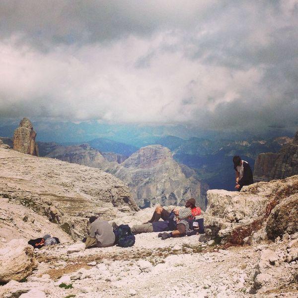 Alps Rifugio Italy Resting Mountain Scenics Relax Outdoor Cloud Dolomiti Non-urban Scene