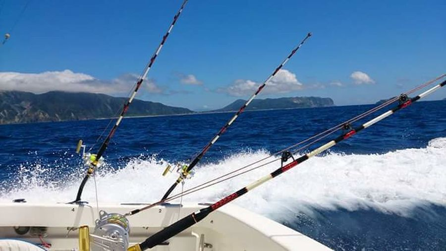 blue sea Biggamefishing Marlin Fishing Water Nautical Vessel Sea Wave Blue Motion Speed Sailing Sky