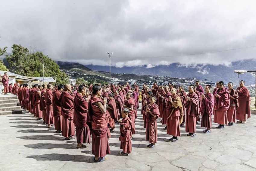 monks praying in the morning assembly India Monastery Monks Monpa Mountains Prayers Tawang Tribe First Eyeem Photo