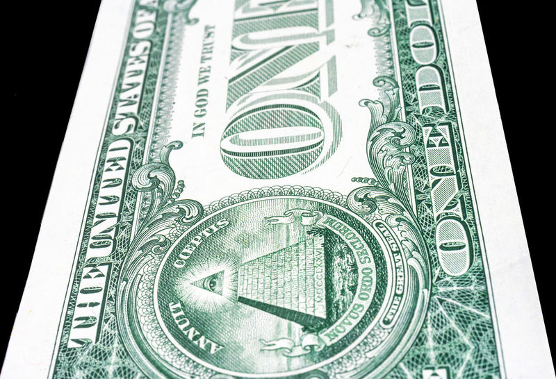 Trimmed perspective photo of a dollar bill, black background American Green Color Greenback Pyramid Rich Banknote Cash Close-up Currency Day Dollar Finance Indoors  Money Money USA No People One Paper Currency Pay Studio Shot Wealth