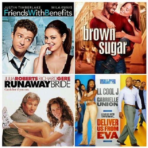 Friends with benefits | Brown sugar | Run away bride | Deliver us from eva ♡♡ Mymovienight Fewofmyfavouriteromancemovies Classics Ilovehappyendings ilovemyclassics popcornisready yay :)