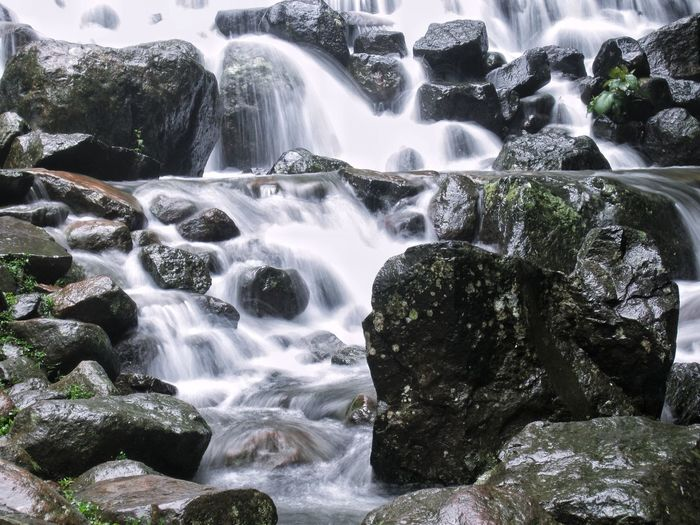 Motion Waterfall Water Long Exposure No People Nature Blurred Motion Splashing Beauty In Nature Day Outdoors Close-up Tranquility Flowing Water Flowing Serenity Freshness Zen-like Blissful Bliss Rocky River Rock And Water Rocky Waterfall Environment Adventure