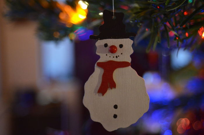 Christmas 2018. Holiday Celebration Decoration Christmas Tree Christmas Decoration Christmas Ornament christmas tree Close-up Festive Festive Season Snowman Snowman Decoration Warmth