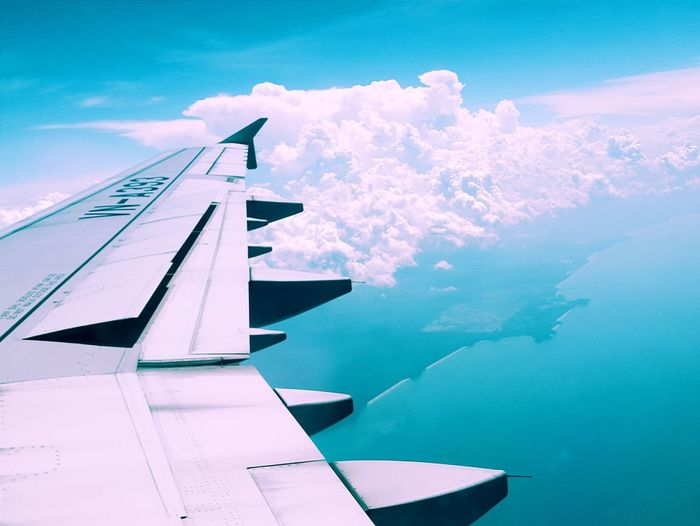 Showcase July Travel Singapore Air Airplain Vietnamairline Sea Window Cloud Landscape Scenery VSCO Vscocam