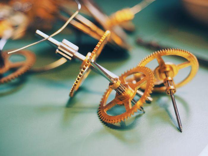 Clock Gears On Table