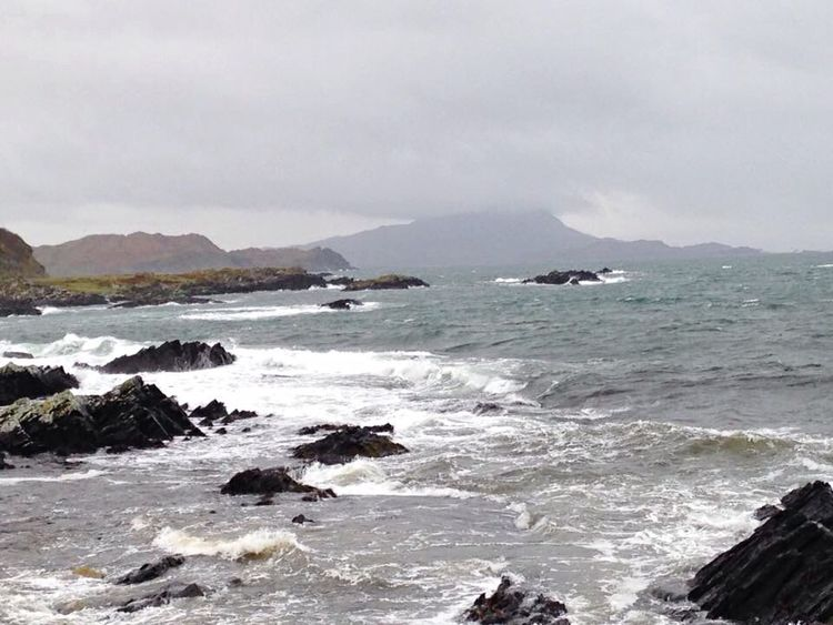 Seascape Sea Scotland Scenic Scenery Mountains Wild Rugged Rugged Beauty Rugged Terrain