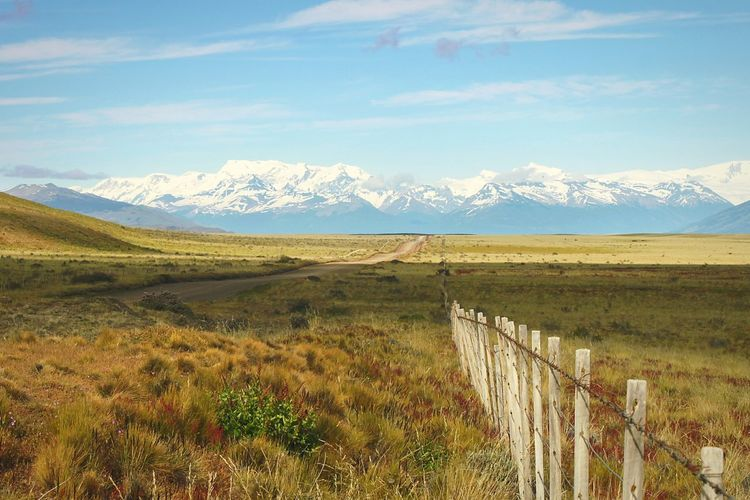 Road do Perito Moreno, it was such an amazing day. Landscape Mountain Nature Outdoors Beauty In Nature Argentina El Calafate Fence Fullfillment
