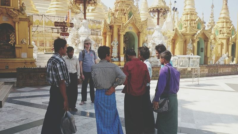 The Tourist in Yangon, Myanmar
