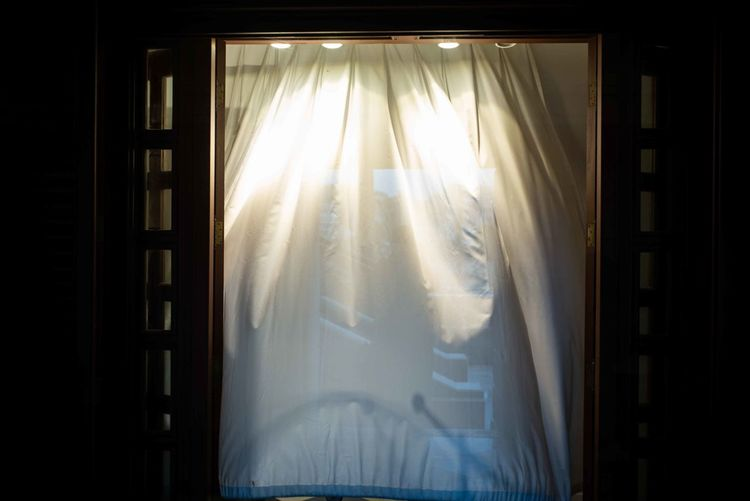 Sunlight streaming through window at home