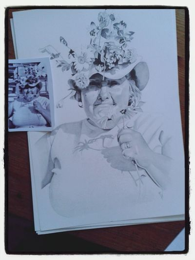Check This Out Art Awesome commissioned pencil portrait