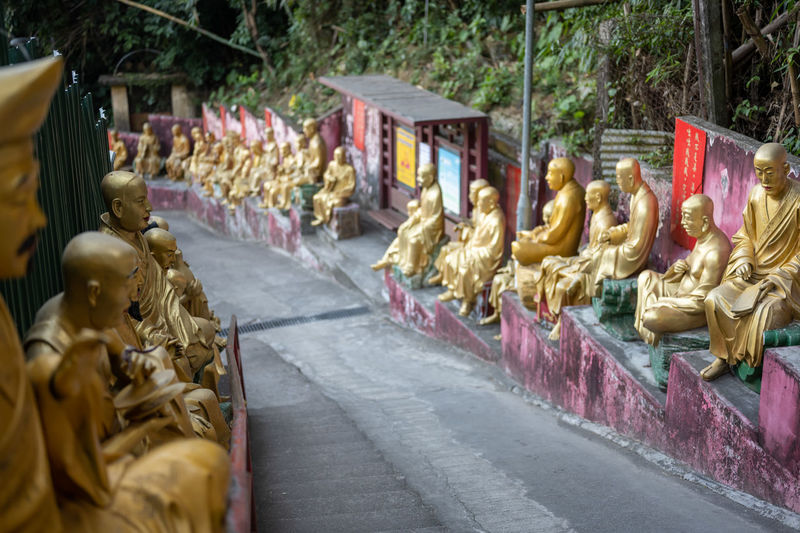 Sculpture of buddha statues in temple