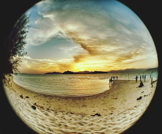 Sunrise Landscape Beach Fisheye
