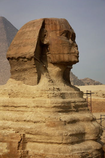 Ancient Ancient Civilization Arid Climate Cairo Damaged Day Desert Egypt Eroded Geology Old Old Ruin Physical Geography Rock Rock Formation Rough Sphinx Stone Stone Wall Textured