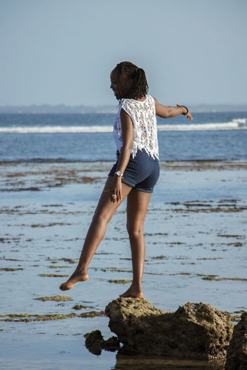 My Best Photo Dreadlocks Fun Sea Water Beach Land Scenics - Nature Sky Full Length One Person Beauty In Nature Horizon Over Water Horizon Real People Lifestyles Leisure Activity Standing Nature Casual Clothing Motion Outdoors Human Arm