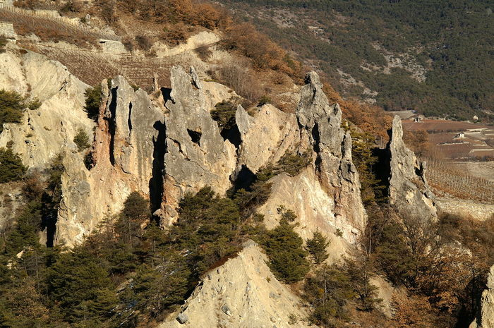 La Raspille Felsen Felsformation Geology No People Physical Geography Raspille Rock Rock Formation Rocky Salgesch Schweiz Stein Stone Switzerland Tranquility Wallis