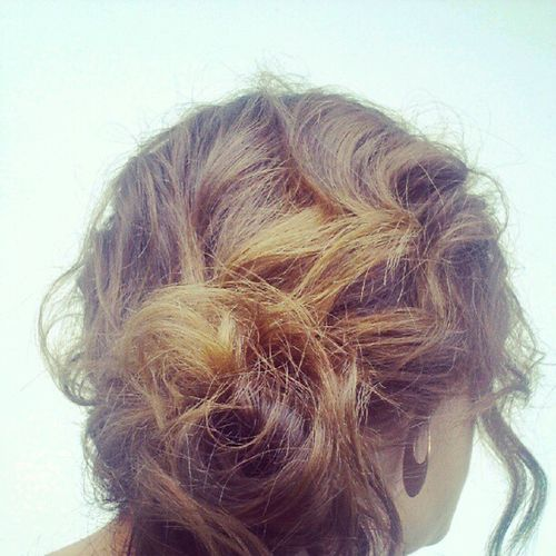 Messy Sidebun my Hair Today post yours!