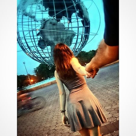 FollowUS @ Coronapark Flushingmeadows Queens newyorkcity newyork NYC nycphotography ny beautyful girl hottie sunset unisphere usa