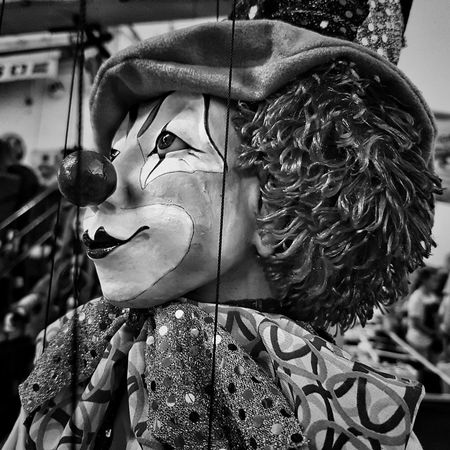 Marioneta Portrait Headshot Representation Blancoynegro Black And White Mask - Disguise