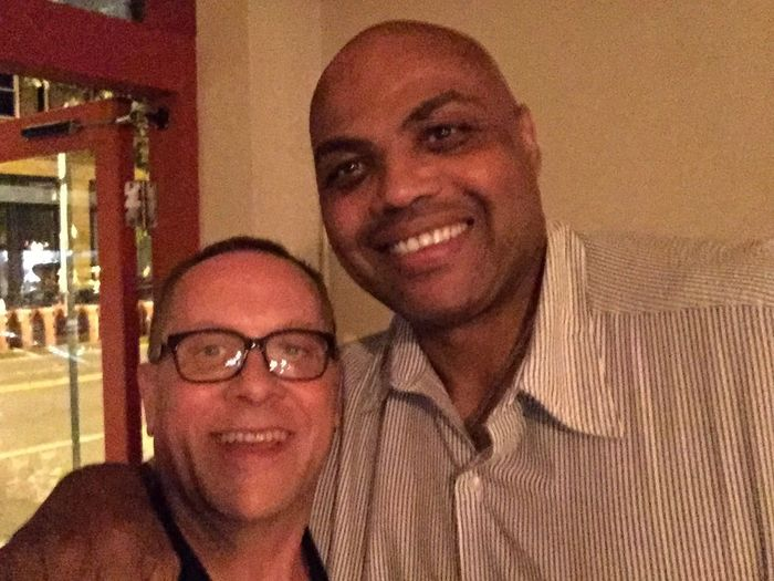 Got to hangout and drink with my old friend Charles Barkley last night. MyExoticFriends GettingMyDrinkOn