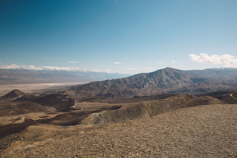 Arid Climate Arid Landscape Beauty In Nature Blue Sky Day Death Valley Death Valley National Park Desert Landscape Mountain Mountain Range Mountains Nature Nature No People Outdoors Physical Geography Roadtrip Scenics Sky Tranquil Scene Tranquility