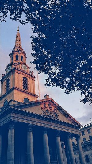Sunset St Martin-in-the-fields Architecture London