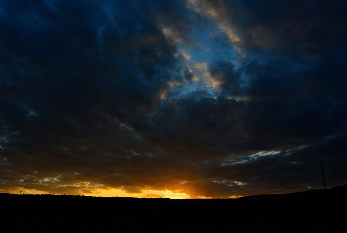 Sky Nature Sunset No People Outdoors Golden Sunset Golden Light Clouds And Sky Clouds & Sky Horizon Sunlight Land And Sky