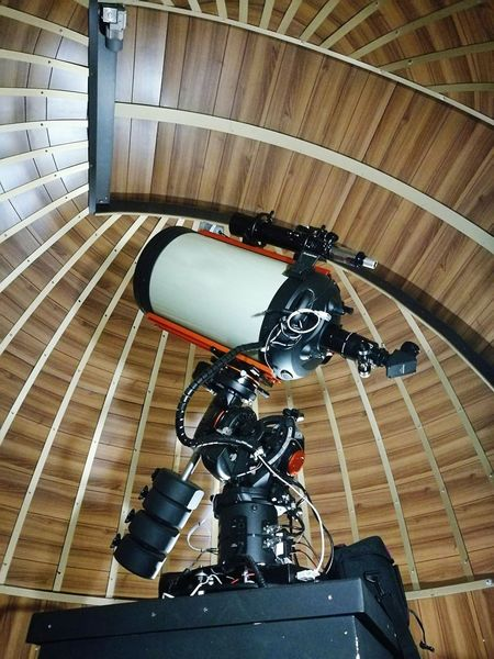 Telescope Astronomical Observatory Dome Wooden Texture Wooden Roof