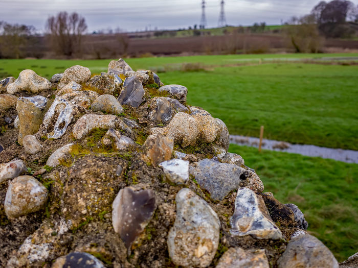 Rocks on field