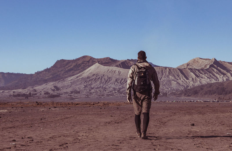 Trekker walking