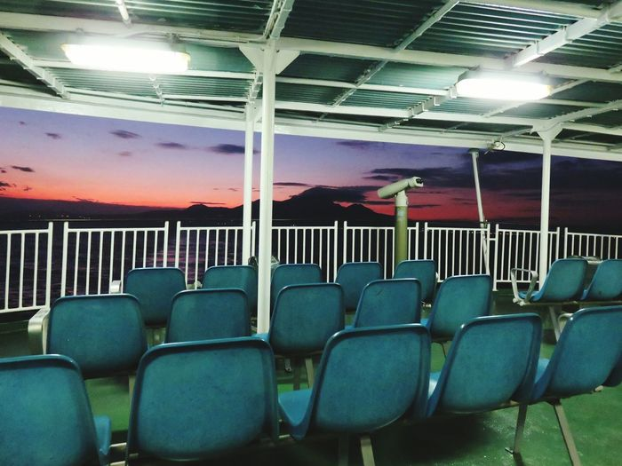 No People Japan 有明海 Ferry Nagasaki 長崎 雲仙 Shimabara Unzen Kyusyu Outdoors Sea Sky Beauty Water Beauty In Nature Chair Bule