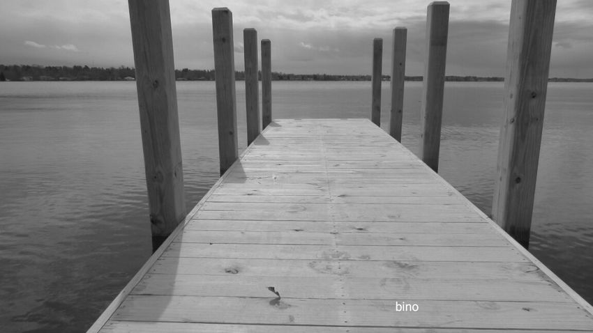 Taking Photos Black And White Photography Low Angle View From The Pier Tranquil Scene Lake Cadillac Pure Michigan