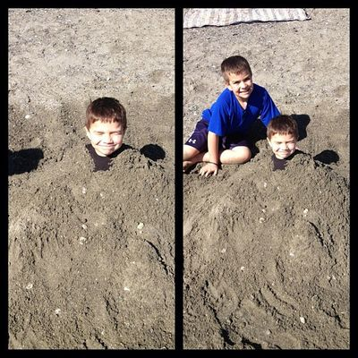 Brothers at the beach! LittleBrothers LoveThem  Sand Havinfun beautifulday pnw nofilter