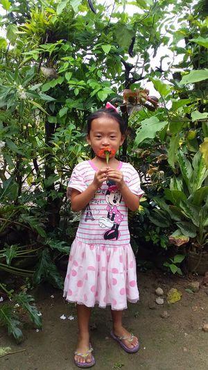 She love flower
