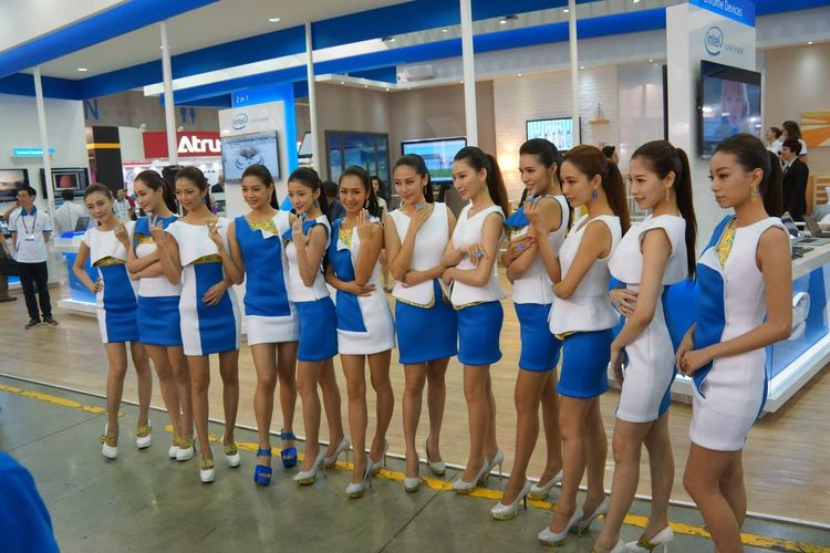 Computex Show Show Girl Computex Show 2014