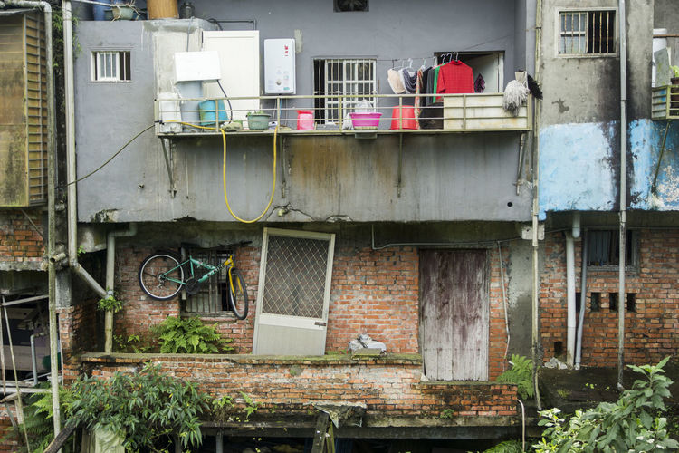 Taiwan Travel Photography Abandoned Architecture Bicycle Building Exterior Built Structure Day Door No People Outdoors