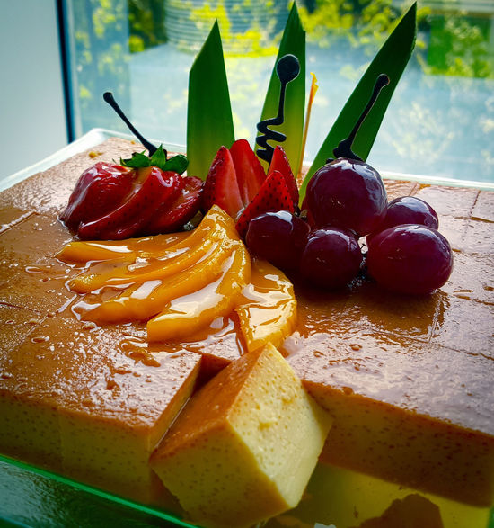 Fruity Flan. Samsungphotography Samsung Galaxy Note 5 Dessert Lecheflan Grapes Strawberry Peach Mobilephotography Eyeem Philippines EyeEm Best Edits EyeEm