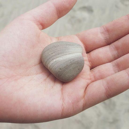 Rock Stone Smooth Rock Smooth Stone Beach Stone Human Hand Manicure Holding Human Finger Close-up